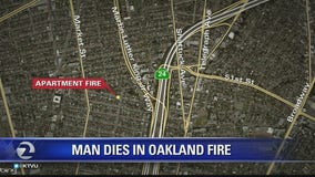 Apartment fire kills one man in Oakland