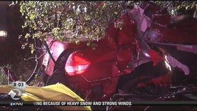 Three people killed in weather-related crash off Hwy 24 in Orinda