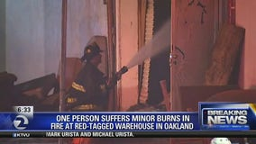 6 escape after red-tagged warehouse in Oakland goes up in flames