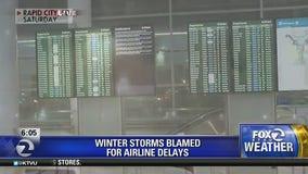 Winter storms blamed for flight delays
