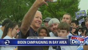 Democratic presidential hopefuls Joe Biden, Tom Steyer campaigning in Bay Area
