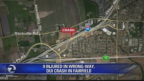 Nine injured in Fairfield wrong-way DUI wreck