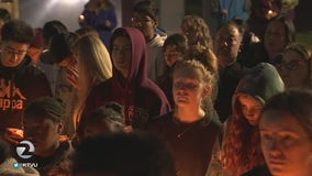 Hundreds gather at vigil to remember teens killed in crash on Christmas