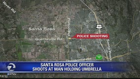 Santa Rosa police shoot man holding an umbrella