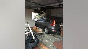 Car crash into Petaluma home displaces family of seven