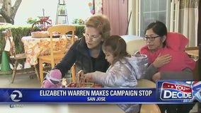 Sen. Elizabeth Warren brings presidential campaign to San Jose