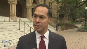 Former Housing Secretary Julian Castro unveils foreign policy proposal at Stanford University