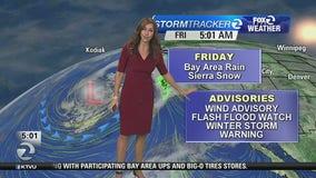 Rain today, wind and snow advisories
