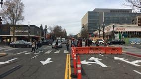 Shattuck Avenue in downtown Berkeley now two-way street