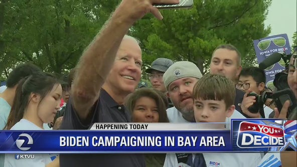 Democratic presidential hopefuls Joe Biden, Tom Steyer campaigning in Bay Area