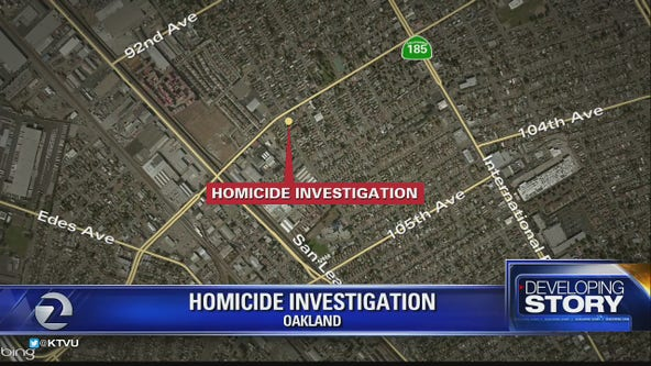 Oakland police investigating homicide at scene of a car crash