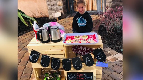 California Kindergarten student sells cookies and hot cocoa to pay off classmates' lunch debt