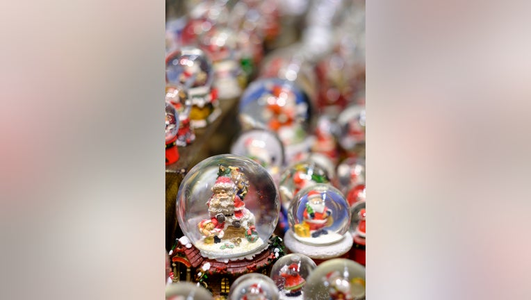 BONN, NORTH RHINE-WESTPHALIA, GERMANY - DECEMBER 7: snow globes are display in the traditional Christmas Market or Weihnachtsmarkt at Bonn on December 7, 2019 in Bonn, Germany. Snow globes are also know as waterglobe, snowstorm or snowdome. (Photo by Thierry Monasse/Getty Images)