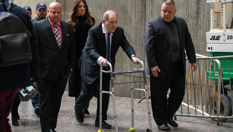 NEW YORK, NY - DECEMBER 11: Movie producer Harvey Weinstein arrives at criminal court on December 11, 2019 in New York City. Weinstein returned to court for a ruling on whether he will remain free on bail or if his bail will be raised to $5 million before his trial starts January 6 . (Photo by David Dee Delgado/Getty Images)