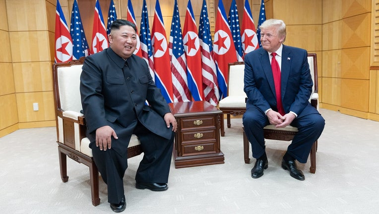 President Donald Trump and Chairman of the Workers' Party of Korea Kim Jong Un