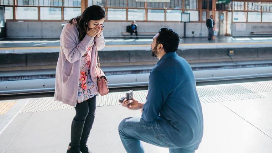 Couple met on BART train 2 years ago, gets engaged at Pleasant Hill Station