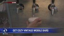 Mobile vintage bar visits The Nine