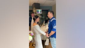 Bride plans last minute hospital wedding so terminally ill father could be in attendance