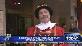 Longtime doorman at Sir Francis Drake Hotel retires