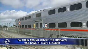 Caltrain operating special train service for Sunday 49ers game