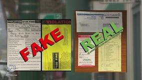 Alameda police warn of fake parking tickets