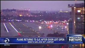 Plane returns to SJC after door left open