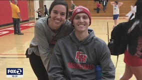 Cal State East Bay basketball player who beat cancer back on court
