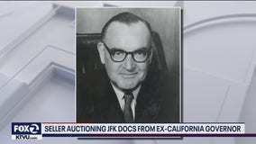 Seller auctioning JFK docs from former Calif. Gov. Jerry Brown