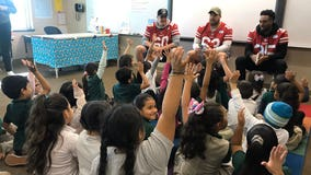 49ers off the field; help South Bay elementary school students in the classroom