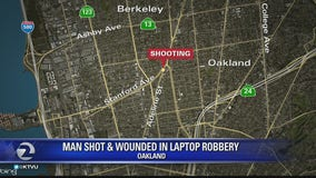 Man shot during laptop robbery at North Oakland bus stop