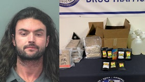 Man arrested with $4m worth of meth, cocaine, MDMA, THC in his car