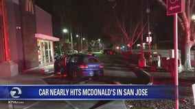 Car nearly hits McDonalds in San Jose