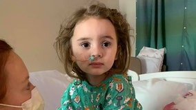 Girl, 4, becomes blind after suffering from flu, mother says