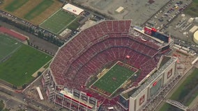 Flying over Levi's Stadium