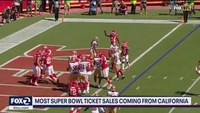 Most Super Bowl ticket sales from California