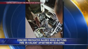 Concord firefighter injured while battling fire in vacant apartment building