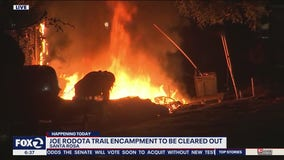 Fire ignites at Santa Rosa homeless encampment same day it was scheduled for clearing