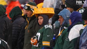 Foam cheesehead is hot when Packers do well