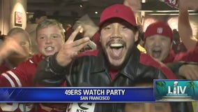 Niners fan rejoice at SF watch party