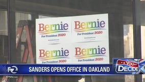 Bernie Sanders opens Oakland Presidential campaign office.