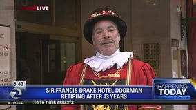Sir Francis Drake Hotel doorman retires after 43 years