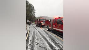 Driver uninjured after sliding off snowy road in Santa Cruz Mountains