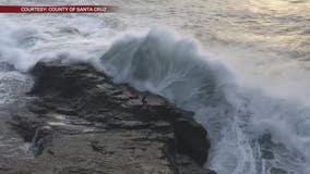 Man swept into ocean by giant wave at Bonny Doon Beach, rescued