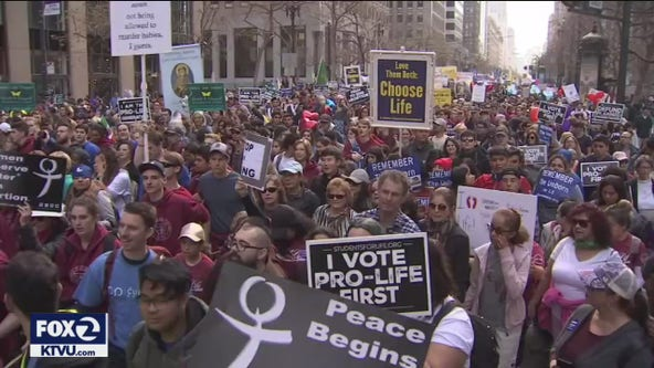 Thousands march down Market Street for 16th annual anti-abortion event