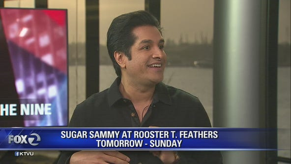 Sugar Sammy performing at Rooster T. Feathers