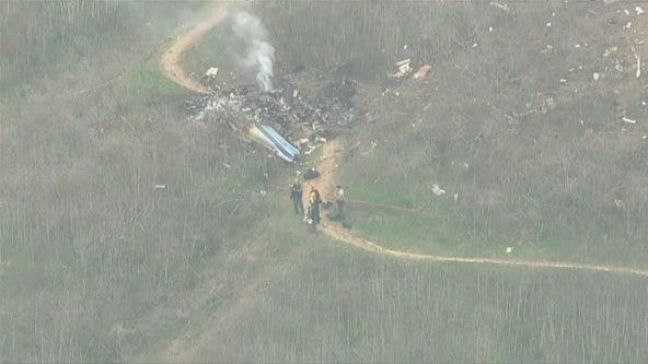 RAW: Scene of helicopter crash that killed nine including NBA star Kobe Bryant