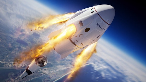 Rough seas delay escape test for SpaceX crew capsule