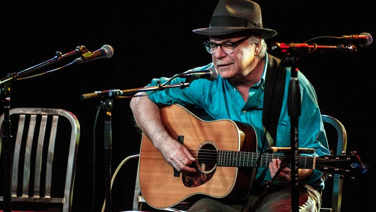DENVER, CO - APRIL 23: David Olney performing during the Dave Alvin's ' West of the West ' train tour at the Soiled Dove in Denver, Colorado on April 23, 2015. (Photo by Larry Hulst/Michael Ochs Archives/Getty Images)