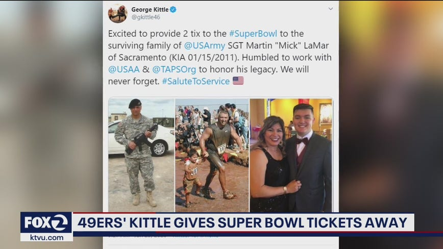 49ers' George Kittle gives away Super Bowl tickets