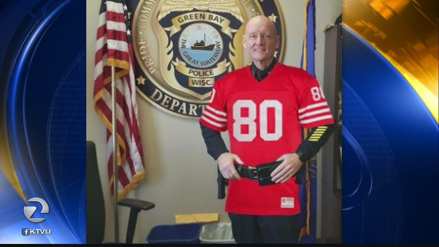 Green Bay police chief dons 49ers' jersey to make good on friendly wager